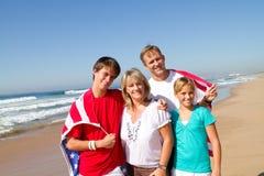 amerikansk familj Royaltyfria Bilder