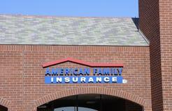Amerikansk familjförsäkring royaltyfri fotografi
