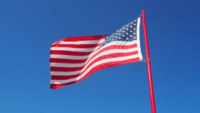 Amerikansk flygflagga royaltyfri fotografi