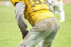 amerikansk footbal spelare Fotografering för Bildbyråer