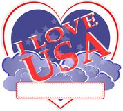 amerikansk form USA för självständighet för dagdesignhjärta Royaltyfri Foto