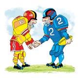 Amerikansk fotboll överför vi sportrivalmaskeringen vektor illustrationer