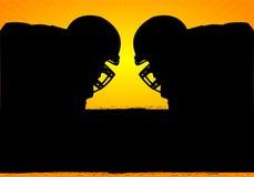 Amerikansk fotbollFace-off Arkivbild