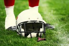 amerikansk fotbollhjälm Arkivbild