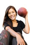 amerikansk fotbollkvinna Arkivfoton