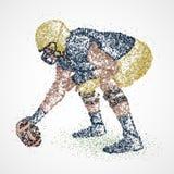amerikansk fotbollsspelare vektor illustrationer