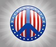 amerikansk fred Royaltyfria Bilder