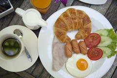 amerikansk frukost royaltyfri foto