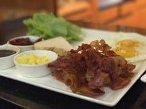 amerikansk frukost royaltyfria foton