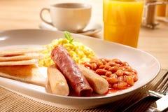 Amerikansk frukostset Arkivfoton