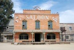 amerikansk gammal salongtown Fotografering för Bildbyråer