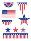 amerikansk garneringflagga vektor illustrationer