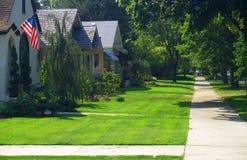 amerikansk grannskap Royaltyfria Bilder