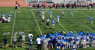 Amerikansk högskolafotboll Royaltyfria Foton