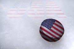 Amerikansk hockey Royaltyfri Foto