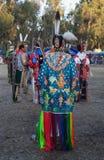 amerikansk indisk folkpowwow stanford Arkivfoto