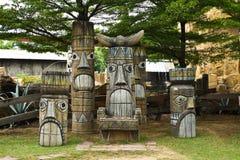 amerikansk indisk infödd skulptur Royaltyfria Bilder