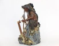amerikansk indisk infödd staty Arkivbilder