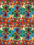 amerikansk indisk wallpaper Arkivfoto