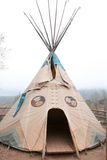 amerikansk infödd teepee Arkivbild