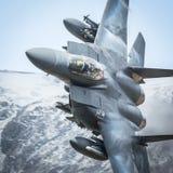 Amerikansk jaktflygplan F15 royaltyfria bilder