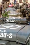 amerikansk jeepsrad Fotografering för Bildbyråer
