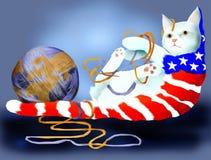 amerikansk katt royaltyfri illustrationer