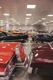 Amerikansk klassikerbilsamling Arkivbild