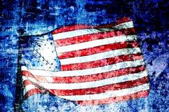 amerikansk konstflagga Arkivbild