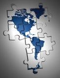 amerikansk kontinent stock illustrationer
