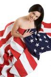 amerikansk kvinna Fotografering för Bildbyråer