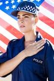 amerikansk kvinnlig polis Royaltyfria Bilder