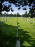 amerikansk kyrkogård royaltyfri bild