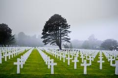 Amerikansk kyrkogård i Normandie Frankrike arkivbilder