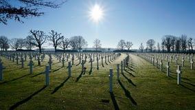 Amerikansk kyrkogård Margraten Royaltyfri Bild