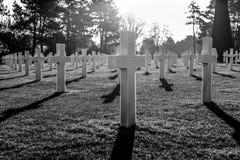 Amerikansk kyrkogård - Normandie, Frankrike Arkivfoto