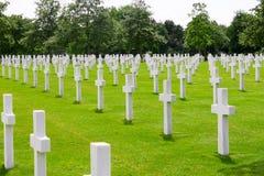 Amerikansk kyrkogård, Normandie, Frankrike Arkivbilder