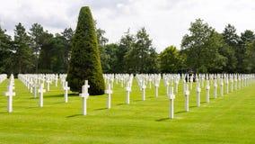 Amerikansk kyrkogård, Normandie, Frankrike Royaltyfria Foton