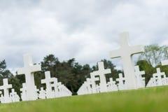 amerikansk kyrkogård normandy Arkivbild