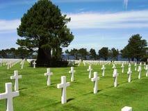 Amerikansk kyrkogård och minnesmärke Arkivbilder