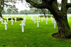 Amerikansk kyrkogård på Normandie Arkivbild