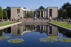 Amerikansk kyrkogård WW2 och minnesmärke, Omaha Beach Normandy Franc royaltyfria bilder