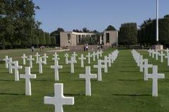 Amerikansk kyrkogård WW2 och minnesmärke, Omaha Beach Normandy Franc arkivfoto