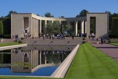 Amerikansk kyrkogård WW2 och minnesmärke, Omaha Beach Normandy Franc arkivbilder