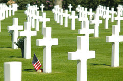 amerikansk kyrkogårdmilitär Royaltyfri Fotografi