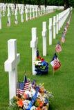 amerikansk kyrkogårdmilitär Royaltyfri Foto