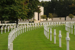 amerikansk kyrkogårdmilitär england Royaltyfria Bilder