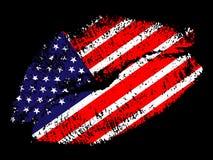 amerikansk kyss stock illustrationer