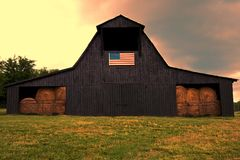 Amerikansk ladugård arkivbild