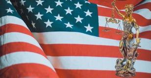Amerikansk lag och beställning arkivfoto